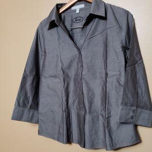 Foxcroft Gray Petite Non-iron Shirt